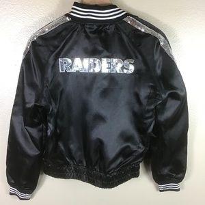 NFL Bling Raiders Light Weight Jacket